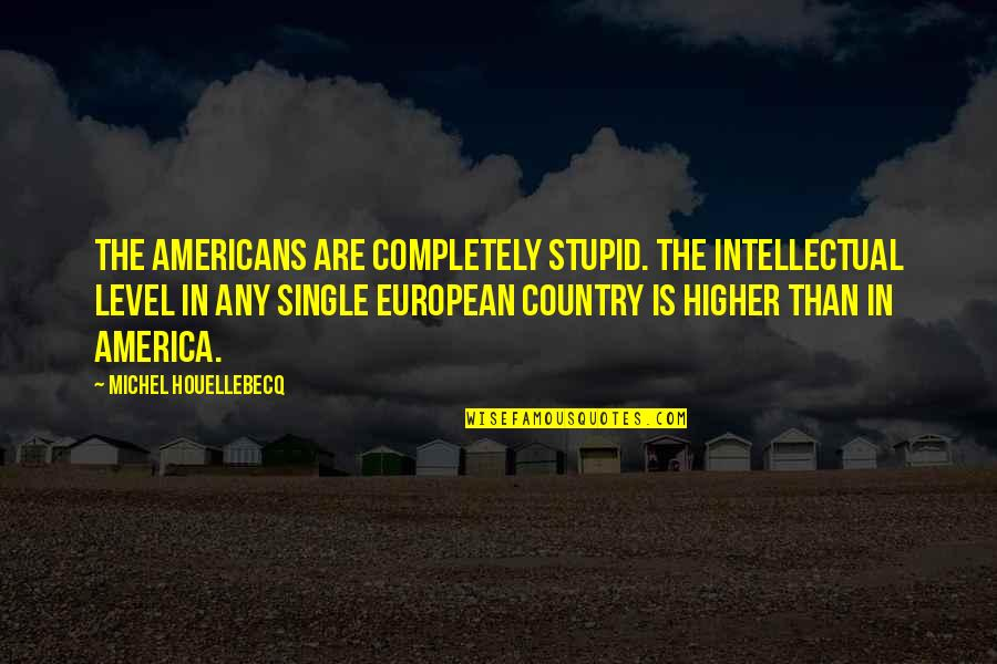 Houellebecq Quotes By Michel Houellebecq: The Americans are completely stupid. The intellectual level