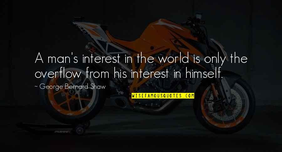Hourly Stock Market Quotes By George Bernard Shaw: A man's interest in the world is only