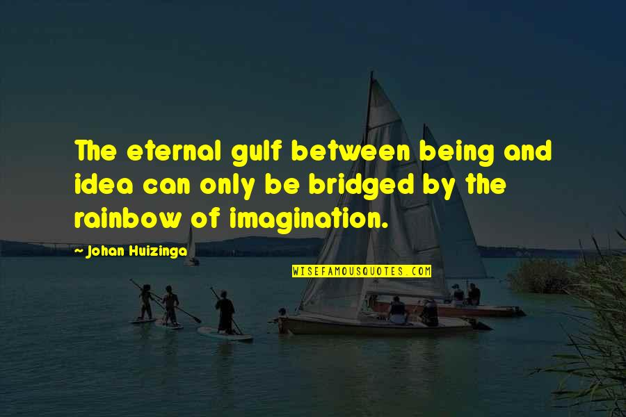 House Inauguration Invitation Quotes By Johan Huizinga: The eternal gulf between being and idea can