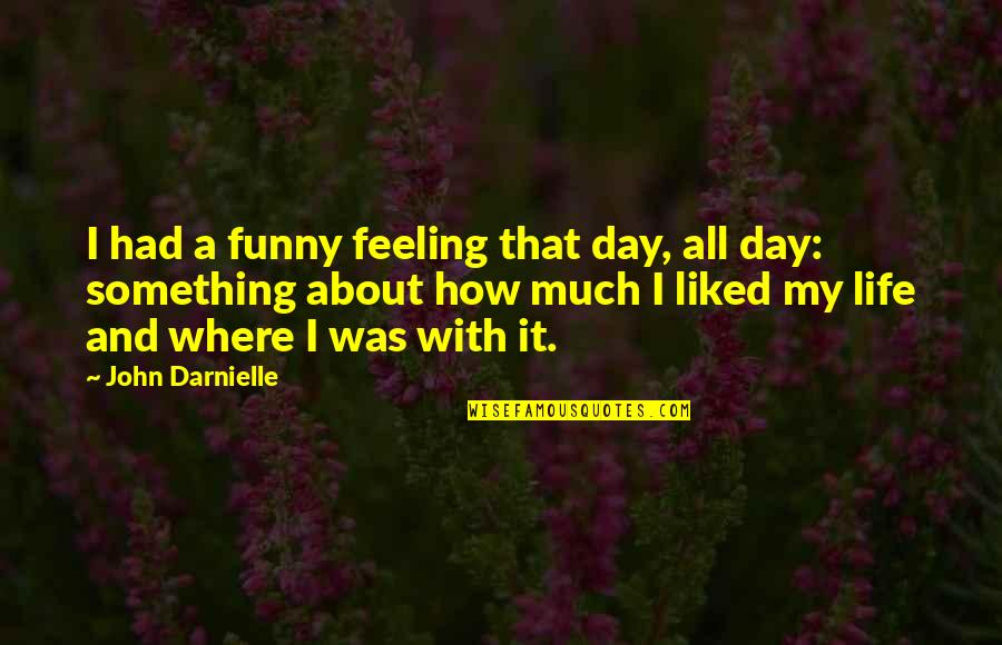 How Are U Feeling Quotes By John Darnielle: I had a funny feeling that day, all