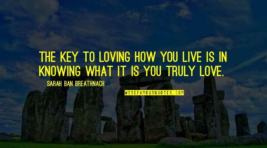 How I Live Now Love Quotes By Sarah Ban Breathnach: The key to loving how you live is