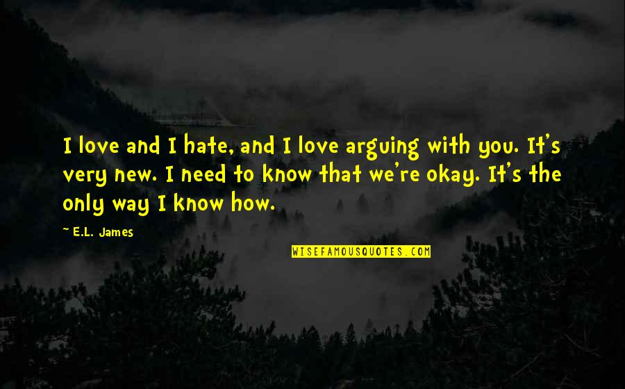 How I Need You Quotes By E.L. James: I love and I hate, and I love
