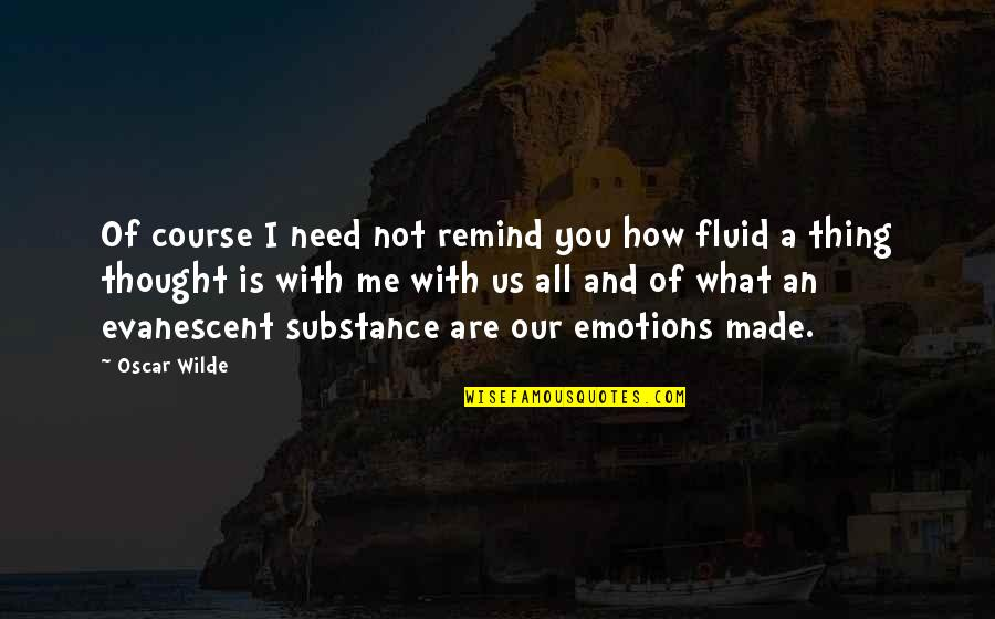 How I Need You Quotes By Oscar Wilde: Of course I need not remind you how