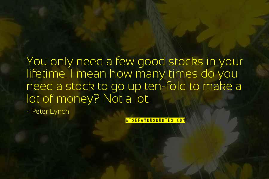 How I Need You Quotes By Peter Lynch: You only need a few good stocks in