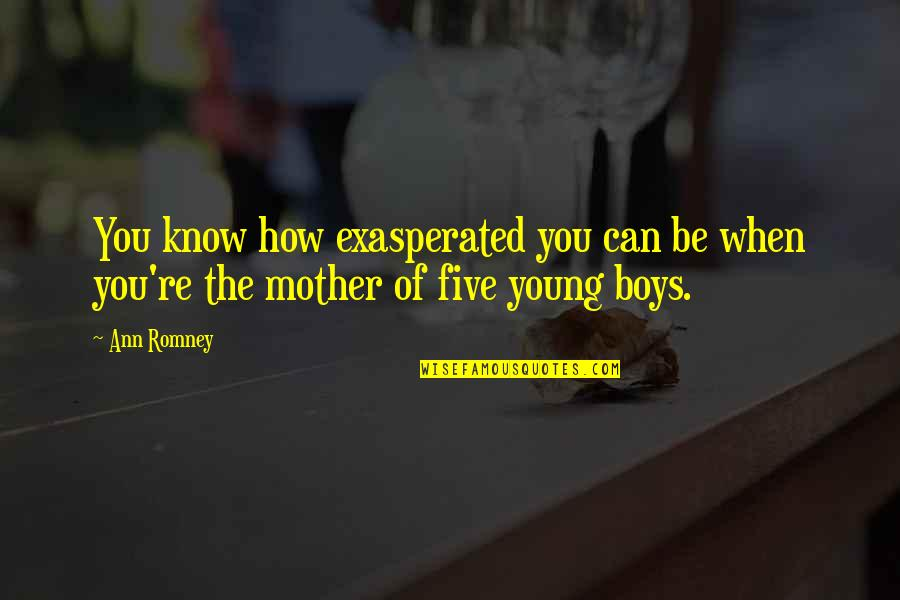 How I Your Mother Quotes By Ann Romney: You know how exasperated you can be when