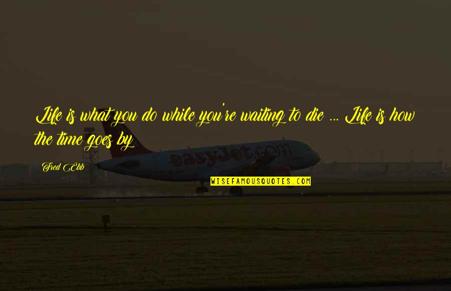 How Life Goes Quotes By Fred Ebb: Life is what you do while you're waiting
