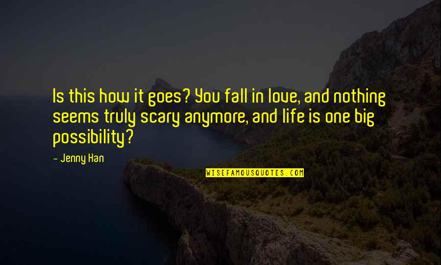How Life Goes Quotes By Jenny Han: Is this how it goes? You fall in