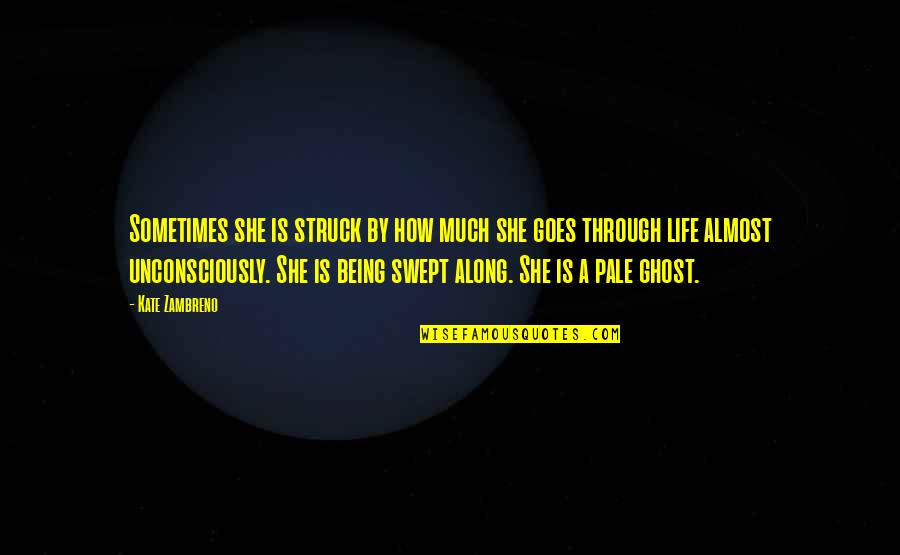 How Life Goes Quotes By Kate Zambreno: Sometimes she is struck by how much she
