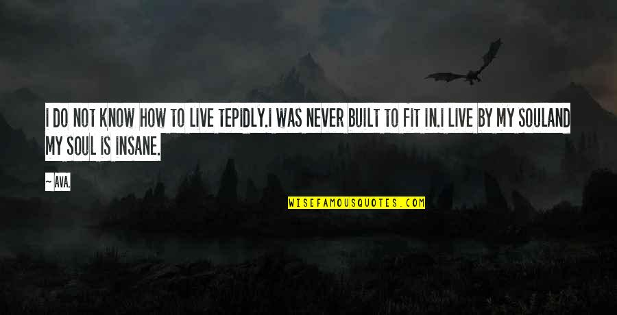 How Love Quotes By AVA.: i do not know how to live tepidly.i