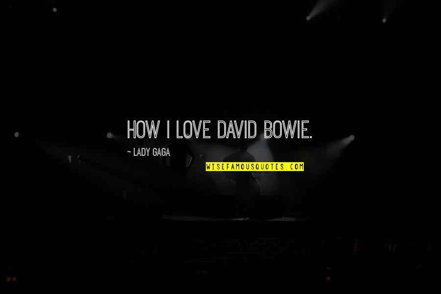 How Love Quotes By Lady Gaga: How I love David Bowie.