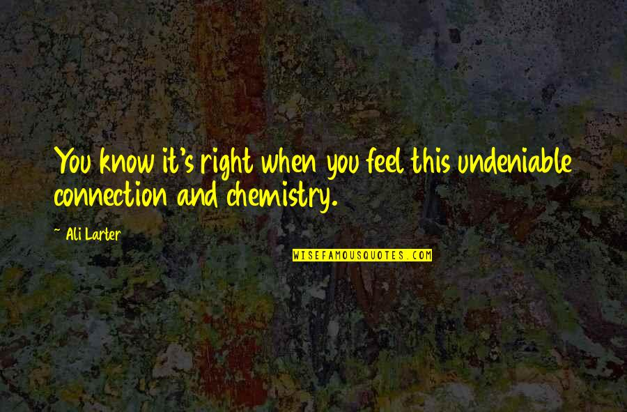 How Strong Is Love Quotes By Ali Larter: You know it's right when you feel this