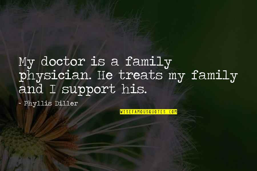 How Strong Is Love Quotes By Phyllis Diller: My doctor is a family physician. He treats