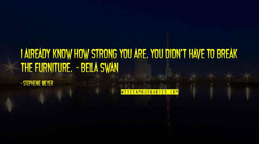 How Strong You Are Quotes By Stephenie Meyer: I already know how strong you are. You