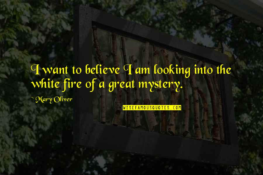 How They Croaked Quotes By Mary Oliver: I want to believe I am looking into