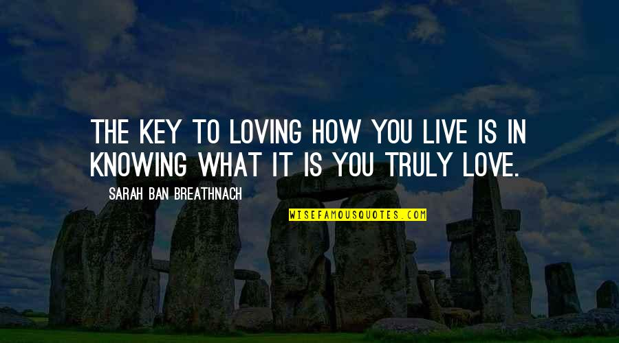 How To Live Without Love Quotes By Sarah Ban Breathnach: The key to loving how you live is