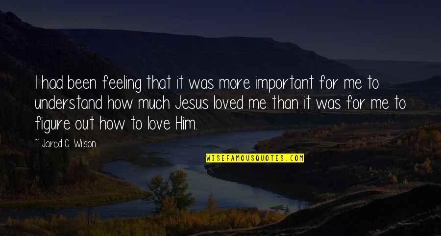 How To Love Me Quotes By Jared C. Wilson: I had been feeling that it was more
