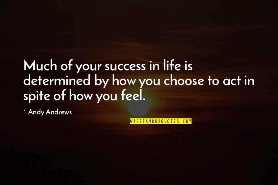 How To Success In Life Quotes By Andy Andrews: Much of your success in life is determined