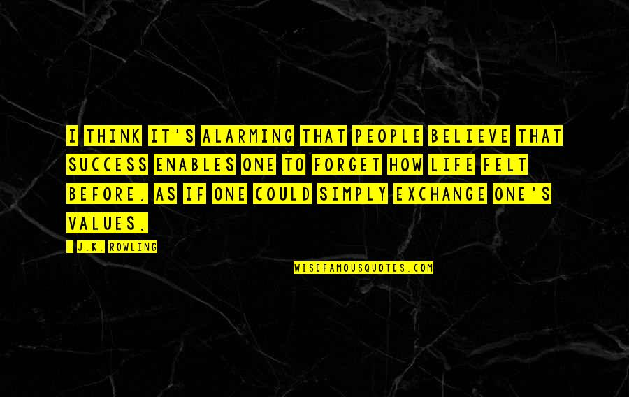How To Success In Life Quotes By J.K. Rowling: I think it's alarming that people believe that