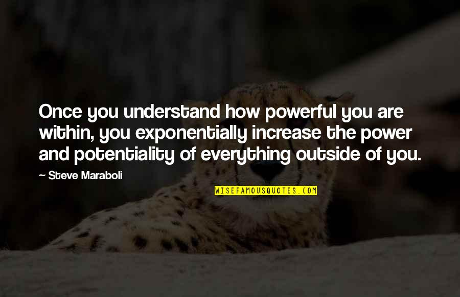 How To Success In Life Quotes By Steve Maraboli: Once you understand how powerful you are within,