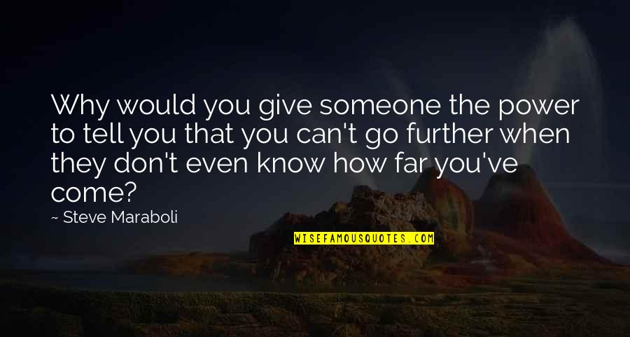 How To Success In Life Quotes By Steve Maraboli: Why would you give someone the power to