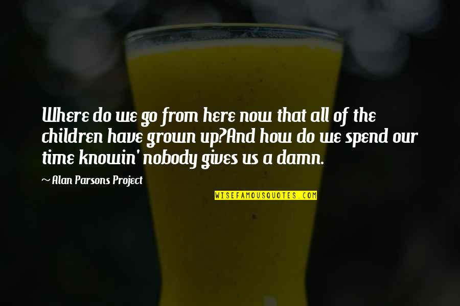 How We Spend Our Time Quotes By Alan Parsons Project: Where do we go from here now that