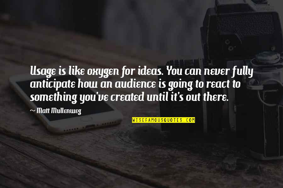 How You React Quotes By Matt Mullenweg: Usage is like oxygen for ideas. You can