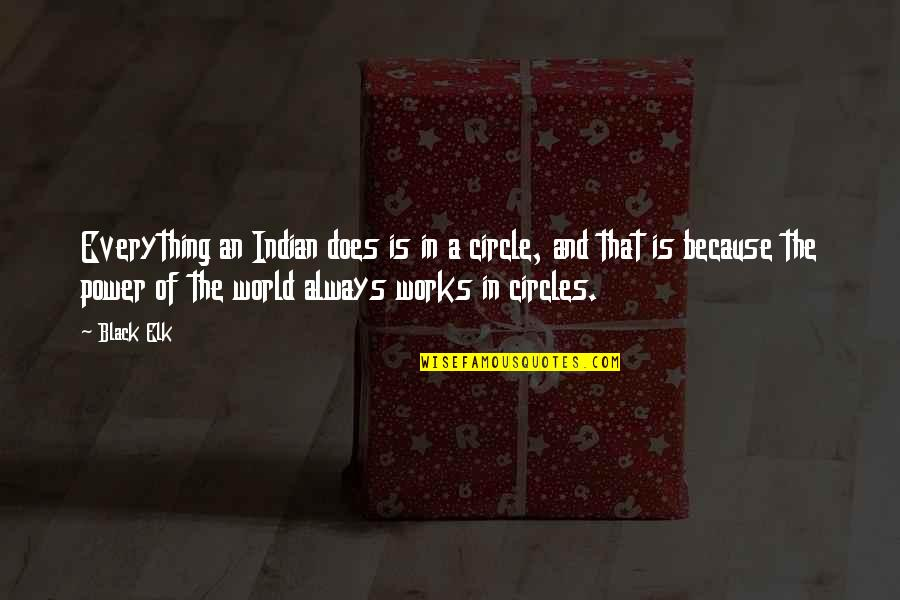 Howie Long Quotes By Black Elk: Everything an Indian does is in a circle,