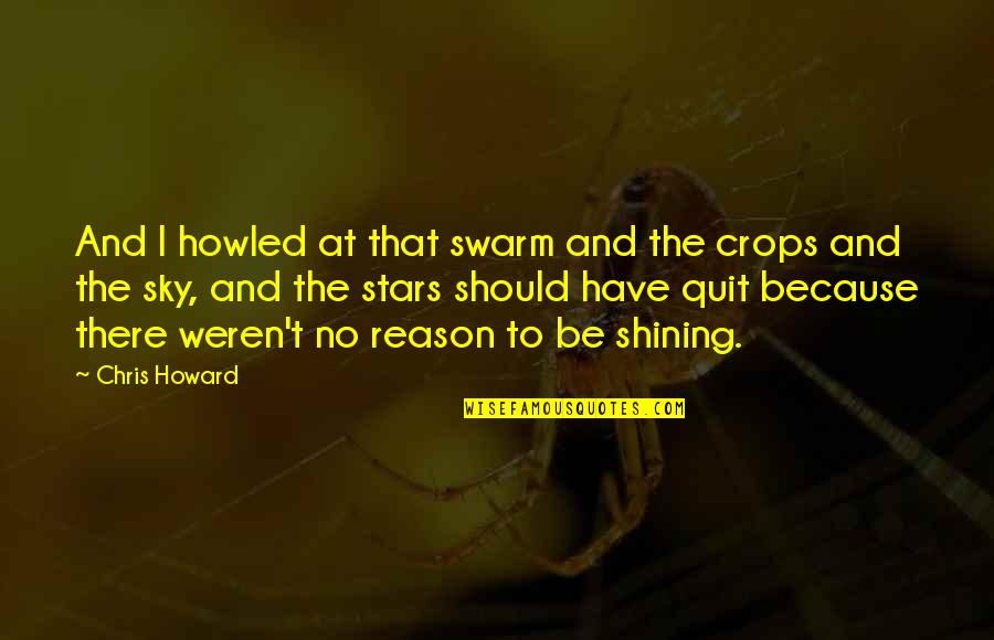 Howled Quotes By Chris Howard: And I howled at that swarm and the