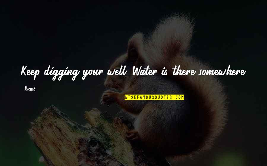 Huge Egos Quotes By Rumi: Keep digging your well. Water is there somewhere.