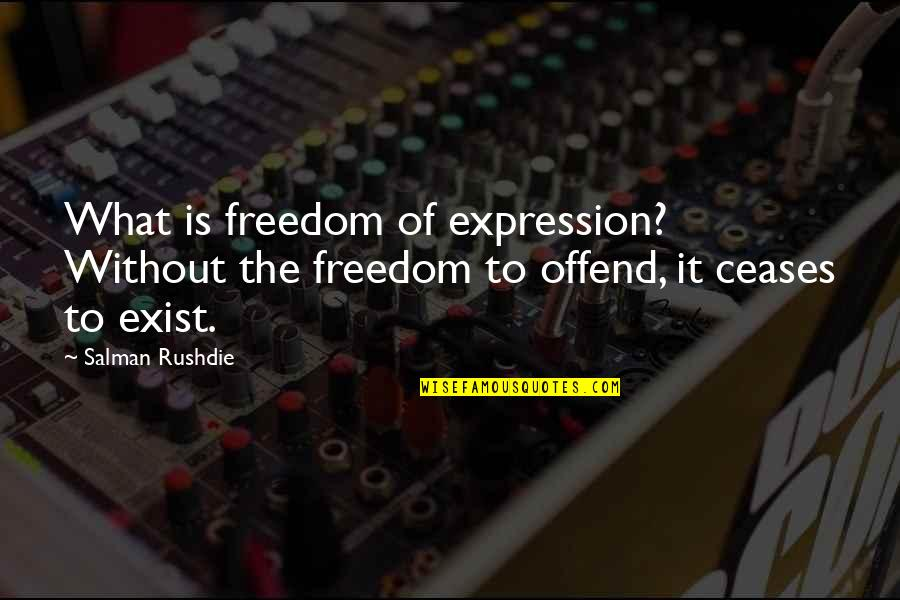 Huggy Pan Quotes By Salman Rushdie: What is freedom of expression? Without the freedom
