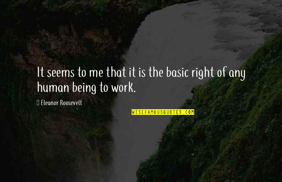 Human Right Quotes By Eleanor Roosevelt: It seems to me that it is the