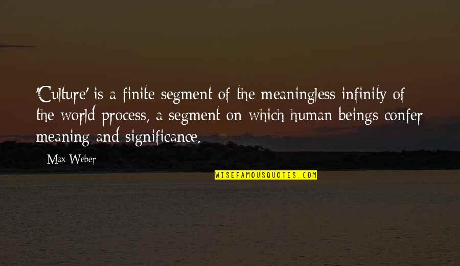Human Significance Quotes By Max Weber: 'Culture' is a finite segment of the meaningless