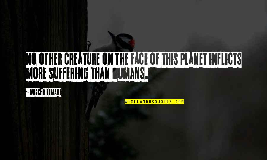 Humanity And Animals Quotes By Mischa Temaul: No other creature on the face of this
