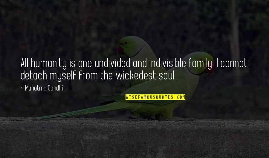 Humanity By Gandhi Quotes By Mahatma Gandhi: All humanity is one undivided and indivisible family.
