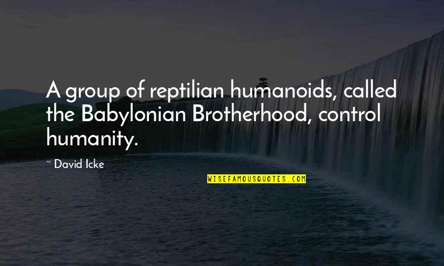 Humanoids Quotes By David Icke: A group of reptilian humanoids, called the Babylonian