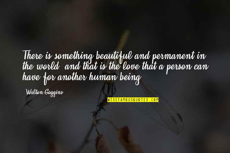 Humans And The World Quotes By Walton Goggins: There is something beautiful and permanent in the
