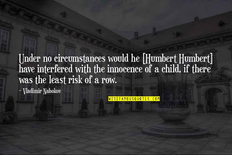 Humbert Quotes By Vladimir Nabokov: Under no circumstances would he [Humbert Humbert] have