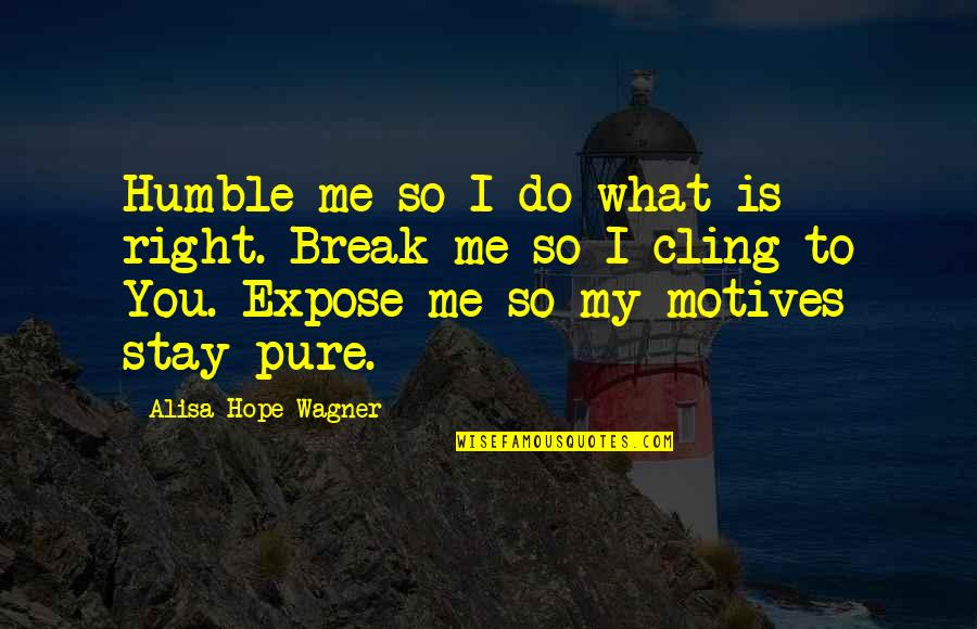 Humble Quotes By Alisa Hope Wagner: Humble me so I do what is right.