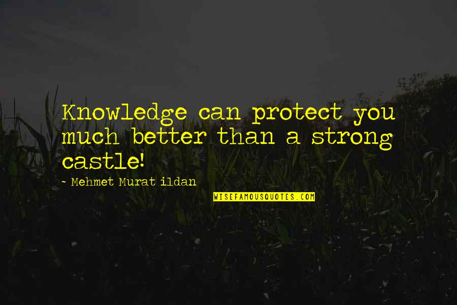 Humorous Brevity Quotes By Mehmet Murat Ildan: Knowledge can protect you much better than a