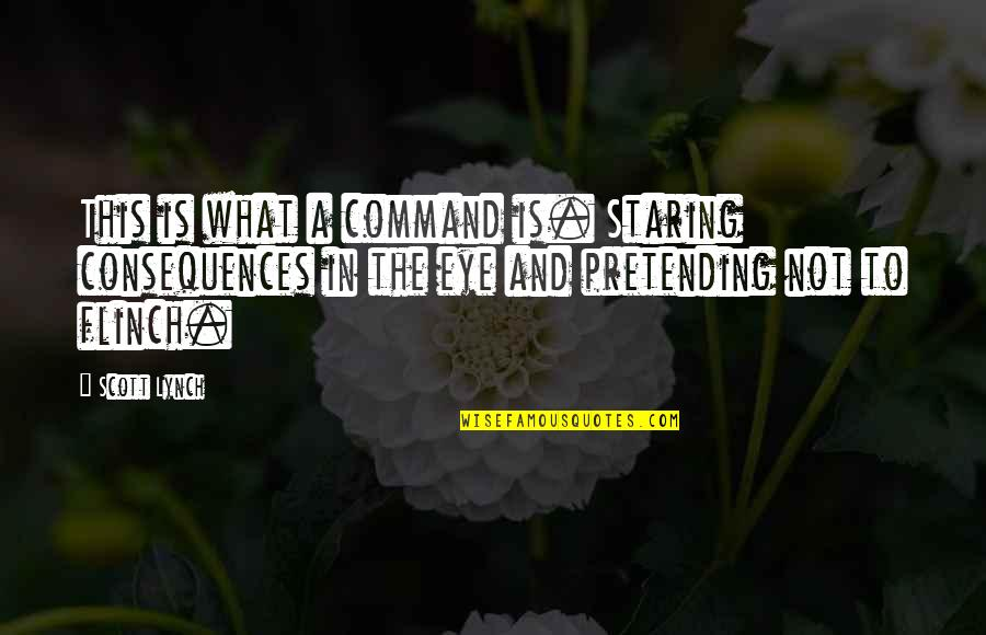 Humorous Laundry Quotes By Scott Lynch: This is what a command is. Staring consequences