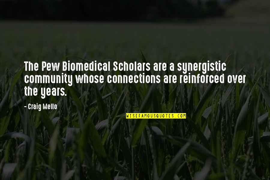 Hunting Dog Quotes By Craig Mello: The Pew Biomedical Scholars are a synergistic community