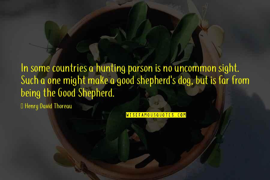 Hunting Dog Quotes By Henry David Thoreau: In some countries a hunting parson is no