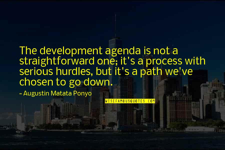 Hurdles Quotes By Augustin Matata Ponyo: The development agenda is not a straightforward one;