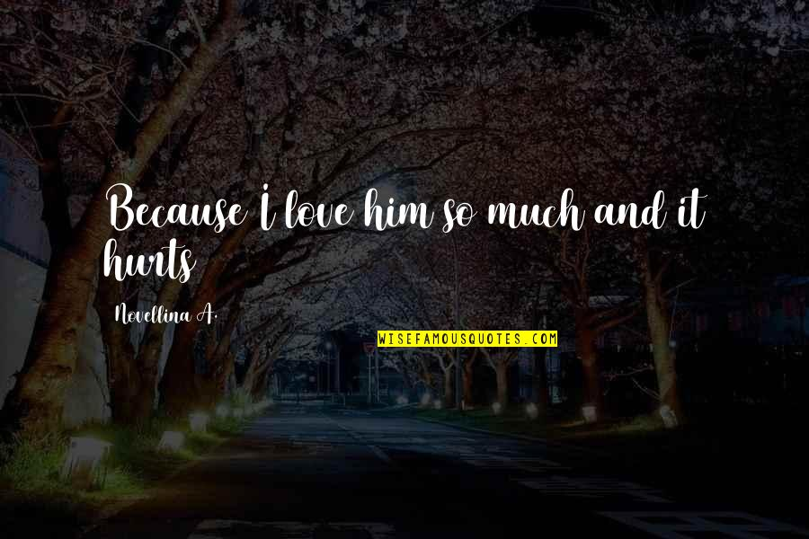 Hurt Because Of Love Quotes By Novellina A.: Because I love him so much and it