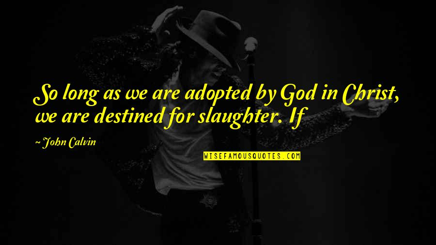 Hurt Feelings Of Love Quotes By John Calvin: So long as we are adopted by God