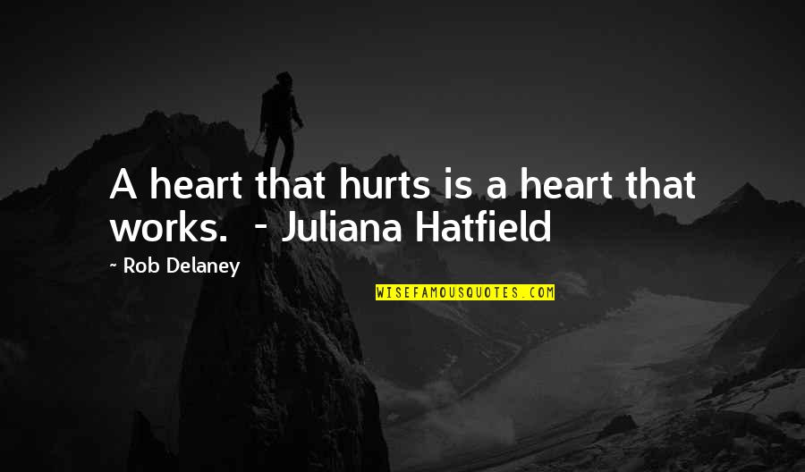 Hurts Heart Quotes By Rob Delaney: A heart that hurts is a heart that