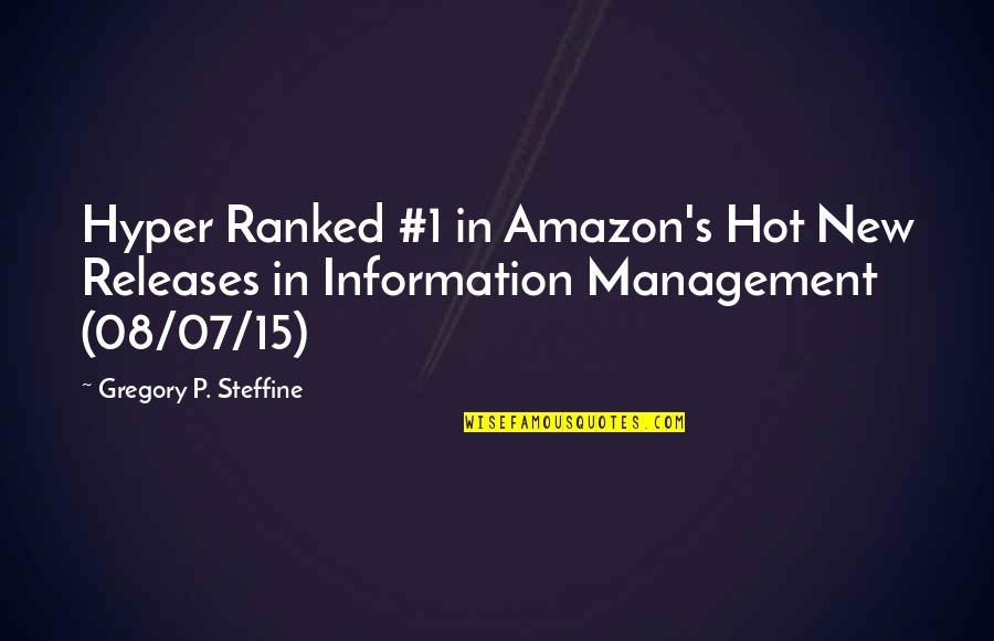 Hyper Quotes By Gregory P. Steffine: Hyper Ranked #1 in Amazon's Hot New Releases
