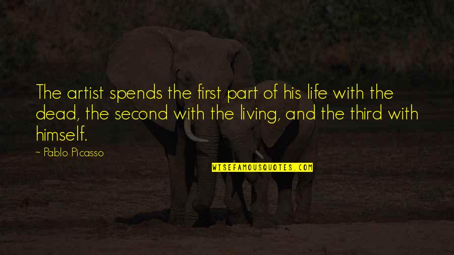 Hypnotics Quotes By Pablo Picasso: The artist spends the first part of his
