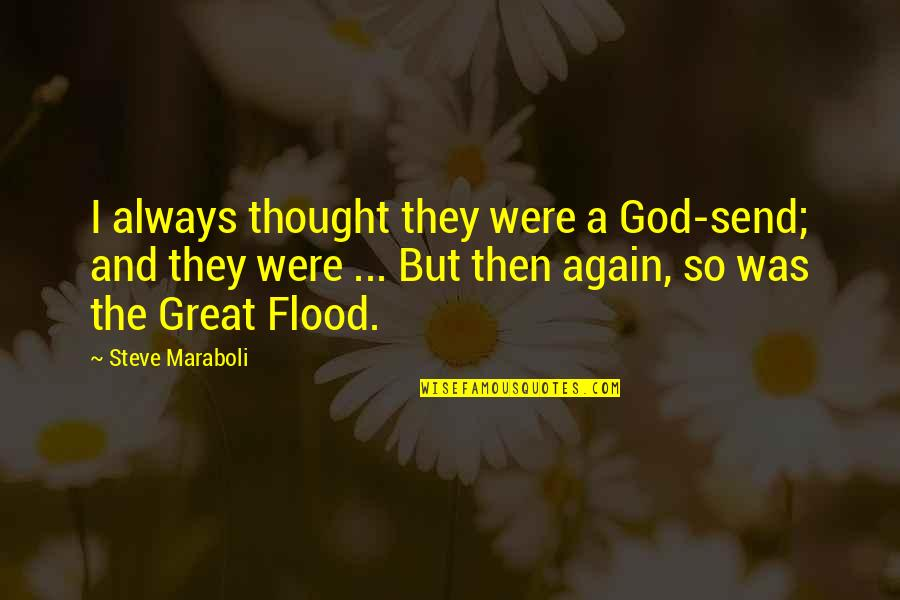 I Always Thought Quotes By Steve Maraboli: I always thought they were a God-send; and