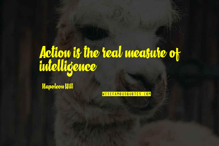 I Am A Heartbreaker Quotes By Napoleon Hill: Action is the real measure of intelligence.